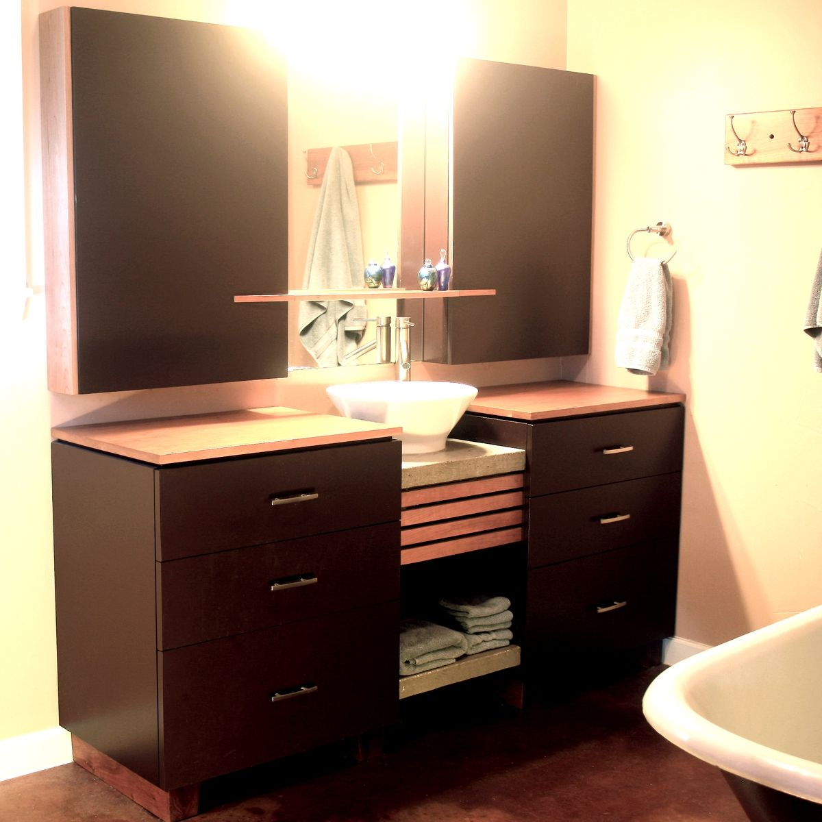 Custom Made Cabinets Hand Made Bathroom Cabinets By Mark Love Furniture