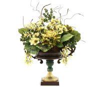 Hand Made Dining Table Centerpiece Silk Flower Arrangement ...
