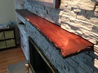 Hand Crafted Live Edge Slab Fireplace Mantle by MAD ...