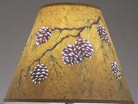 Handmade Reverse Painted Cut & Pierced Pine Cone Design ...