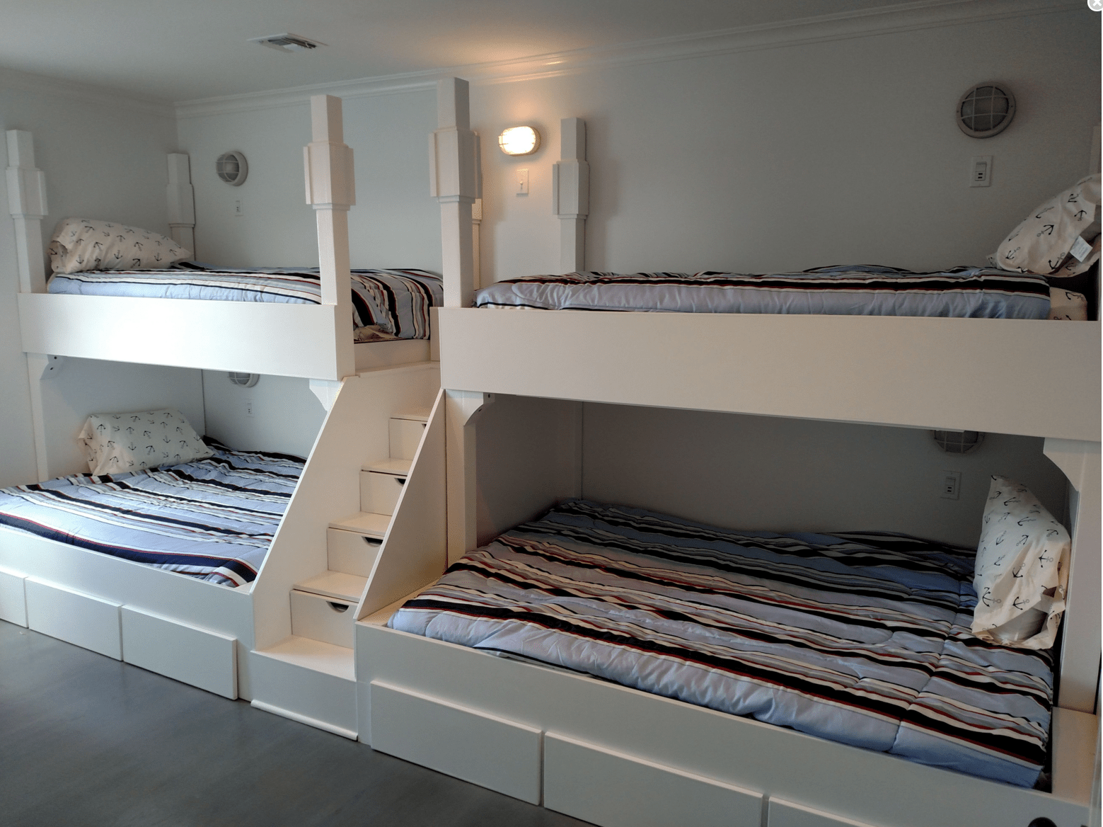 Built In Beds For Adults Buy A Handmade Queen And Twin Quad Bunk Bed With Step And