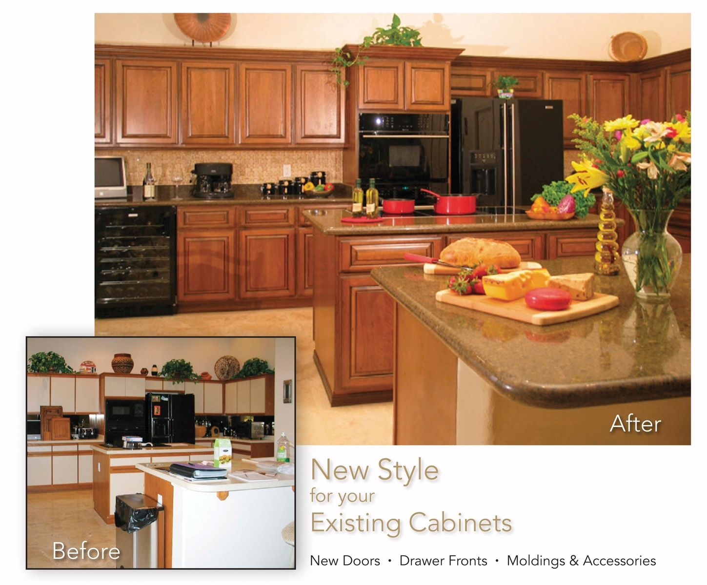 Resurfaced Kitchen Cabinets Before And After Hand Made Cabinet Refacing Before And After By Hi Lo