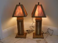Custom Chestnut Stained Glass Lamps by Fwc Woodworking ...