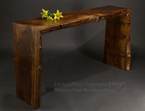 Custom Poured Walnut Sofa Table By Burgess Fine
