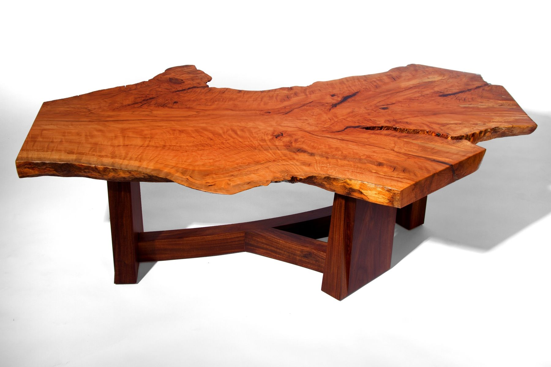 Live Edge Coffee Table Hand Made Live Edge Beech Slab Coffee Table By J Holtz