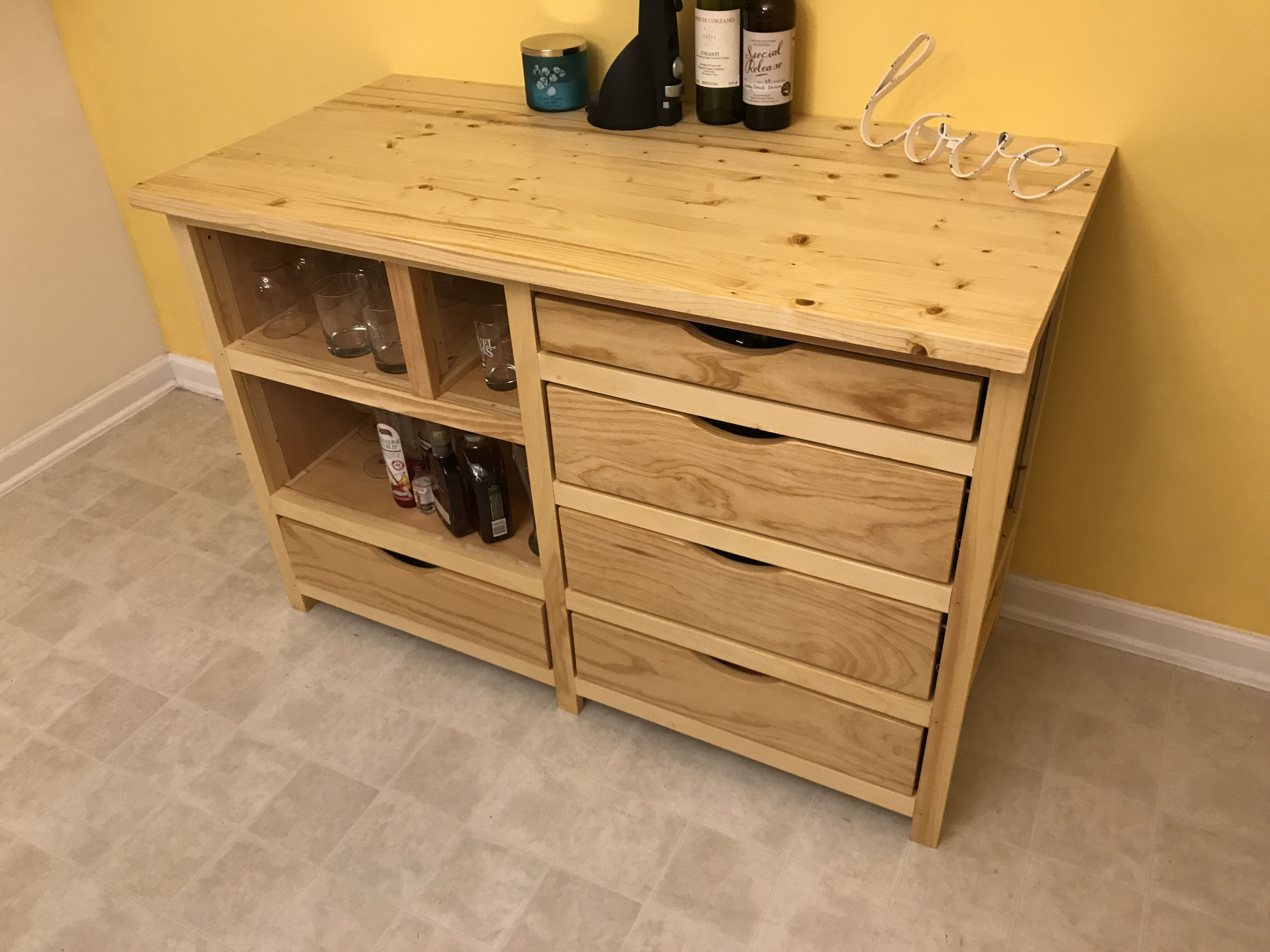 Custom Made Cabinets Hand Made Custom Built Cabinet With Wine Cooler Built In