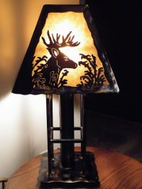 Hand Made Deer Table Lamp by Dakota Rustic Creations ...