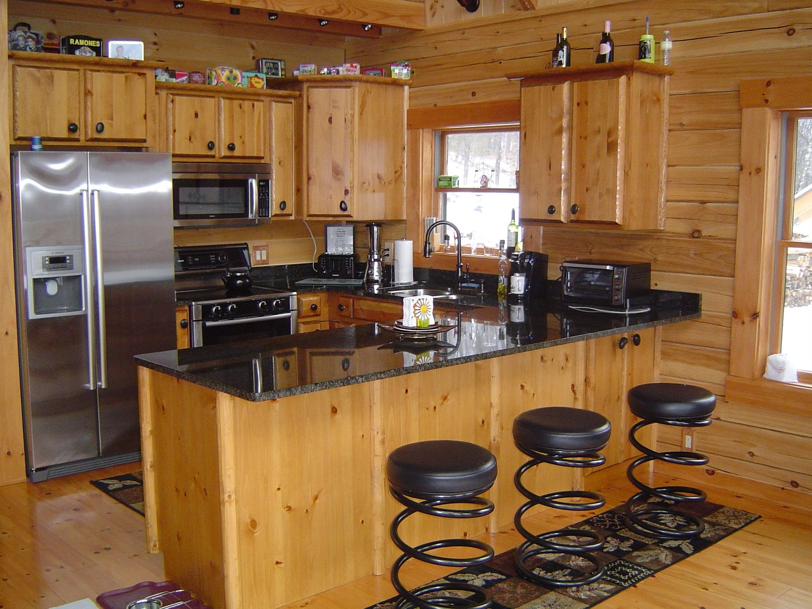 Custom Made Cabinets Handmade Log Kitchen Cabinets By Viking Log Furniture
