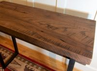 Buy a Custom Made Reclaimed Wood Sofa Table, Rustic Tall