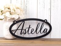 Buy a Hand Crafted Custom Name Metal Sign | Metal Wall Art ...