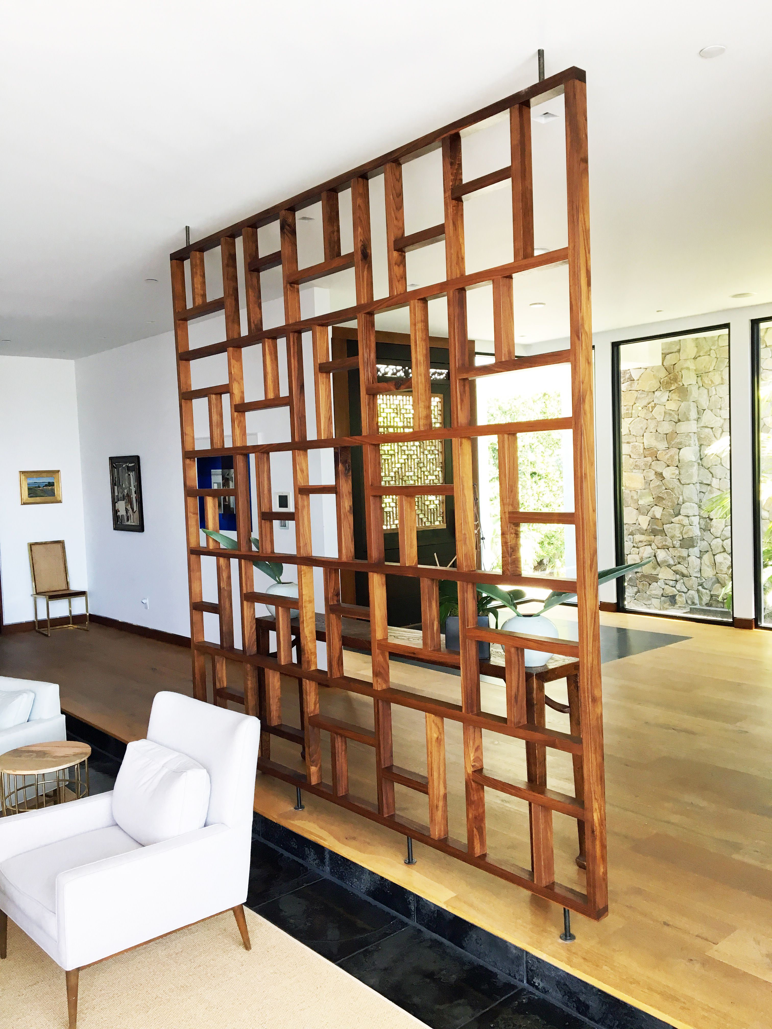 Partitions Designs Handmade Solid Wood Geometric Room Screen Room Divider By