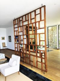 Handmade Solid Wood Geometric Room Screen/ Room Divider by ...