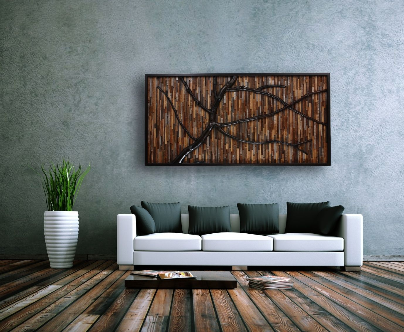 Wood Tree Wall Decor Hand Crafted Reclaimed Wood Wall Art That Evokes A Wind