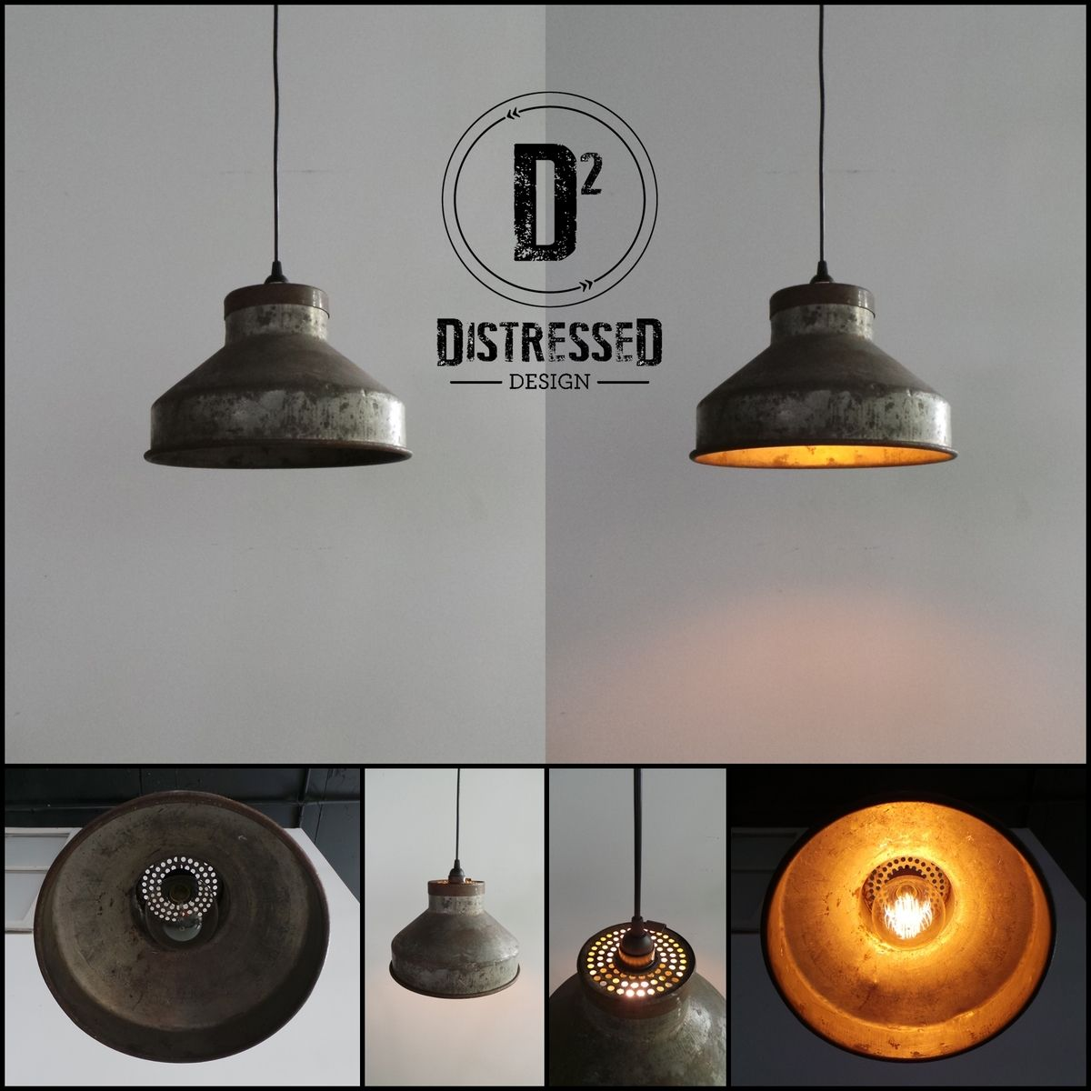 Industrial Chic Lighting Hand Made Repurposed Milk Strainer Pendant Light With