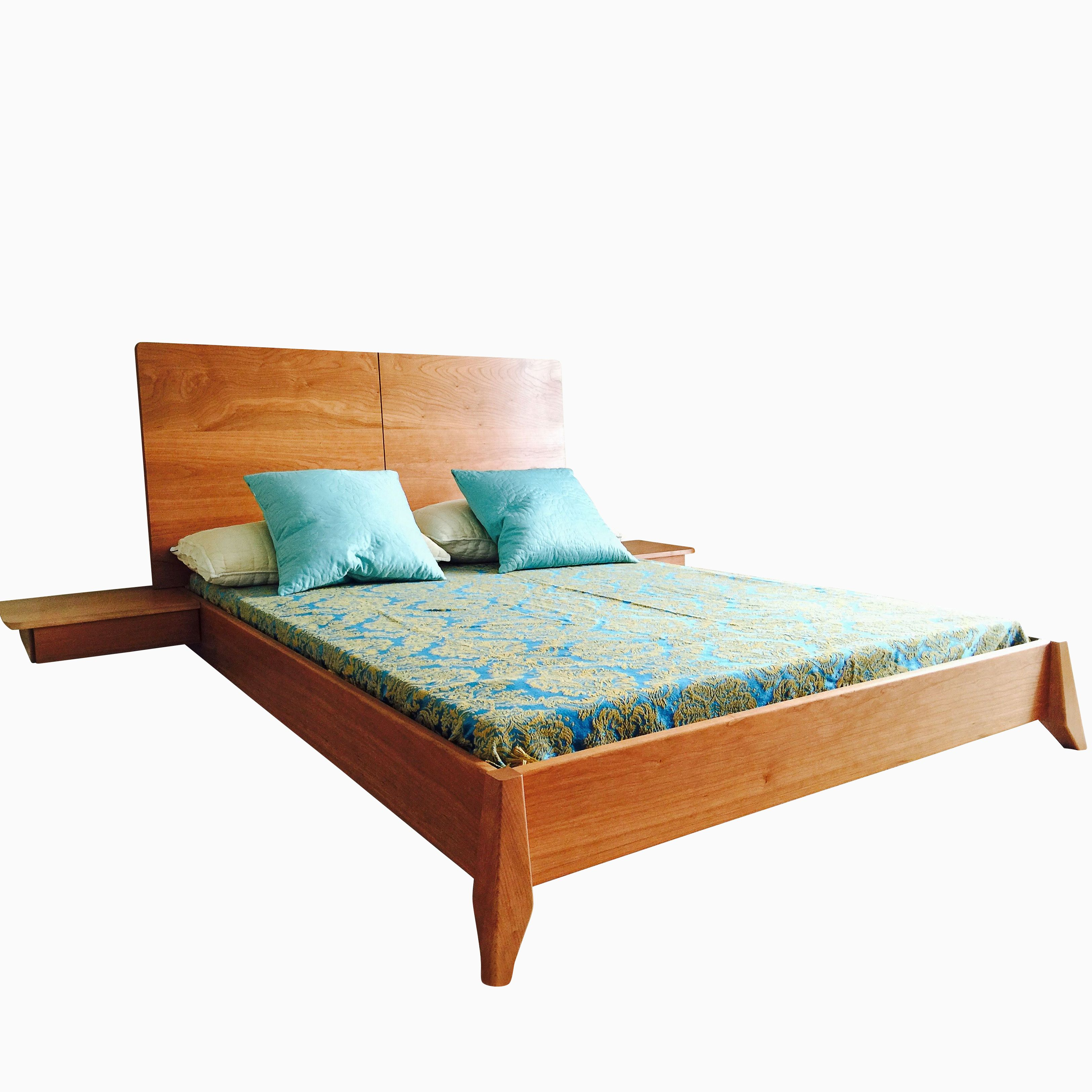 Solid Wood Bed Buy A Hand Made Solid Wood Platform Bed Made To Order