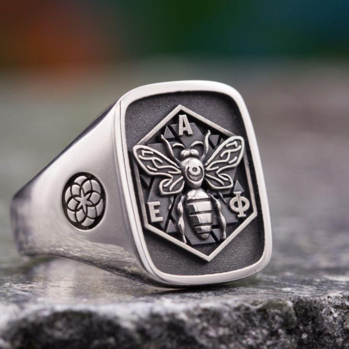 custom monogram rings