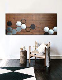 Buy a Handmade Mod Honeycomb 48x20 - Wood Wall Art, Metal ...