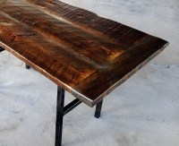Hand Crafted Reclaimed Wood Kitchen Table With Steel Legs ...