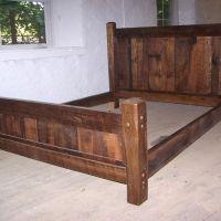 Buy Hand Crafted Reclaimed Antique Oak Wood Queen Size ...