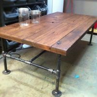 Custom Made Barn Wood Cast Iron Pipe Coffee Table by J&S ...