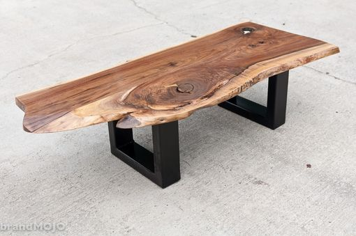 Couchtisch Eiche 50 X 50 Handmade Acero Live Edge And Steel Coffee And Occasional