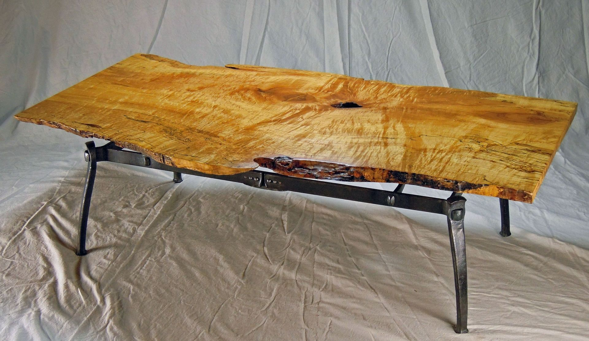 Live Edge Coffee Table Custom Live Edge Coffee Table By Rising Sun Forge
