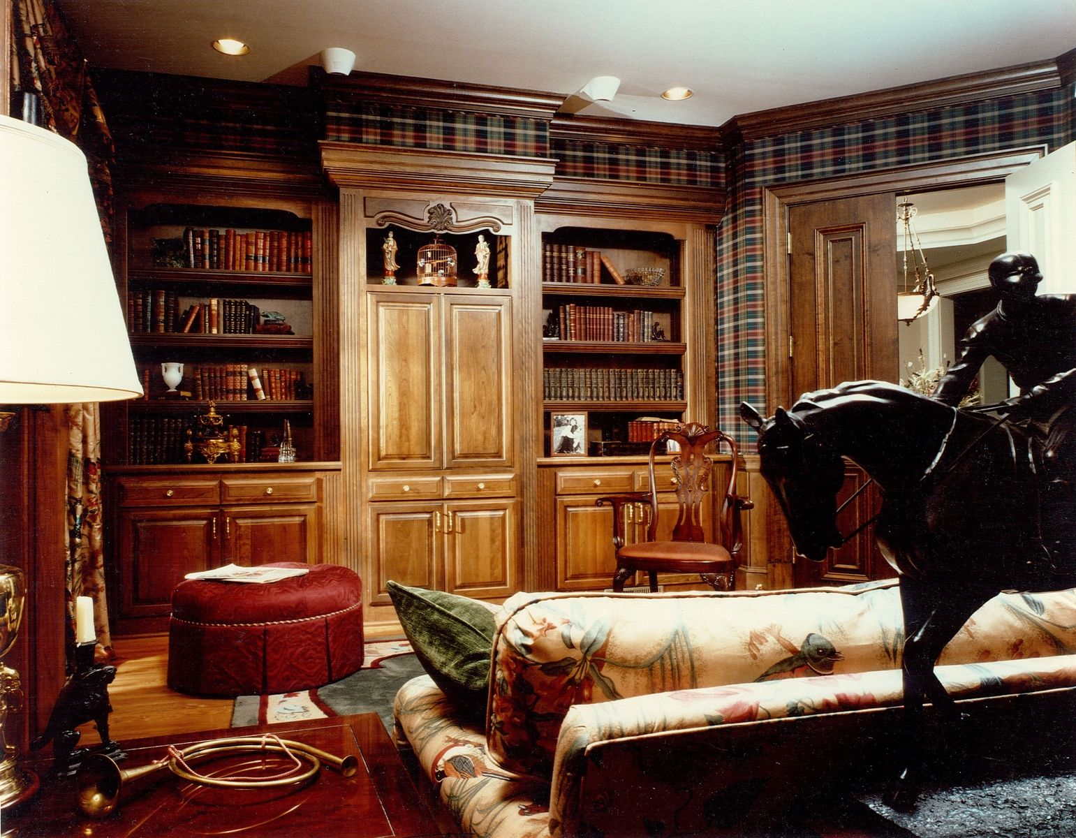Classic Home Offices Hand Made Built In Cabinetry For Home Library Office By