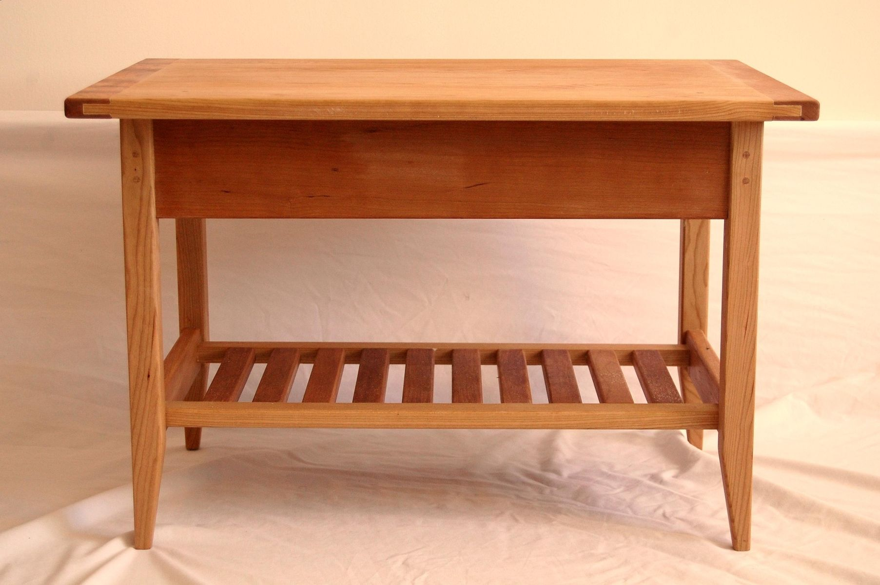Buy A Custom Cherry Shaker Style Coffee Table With Drawer