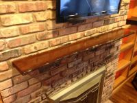 Hand Crafted Live Edge Slab Fireplace Mantel by MAD ...
