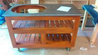 Handmade Indy Dell Grill Table For Big Green Egg, Primo ...