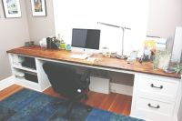 Custom Reclaimed Wood Desk Top With White Painted Poplar