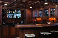 Hand Crafted Basement Bar by Custom Wood Creations ...