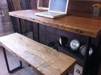 Buy a Hand Crafted Industrial Salvaged Wood Desk, made to