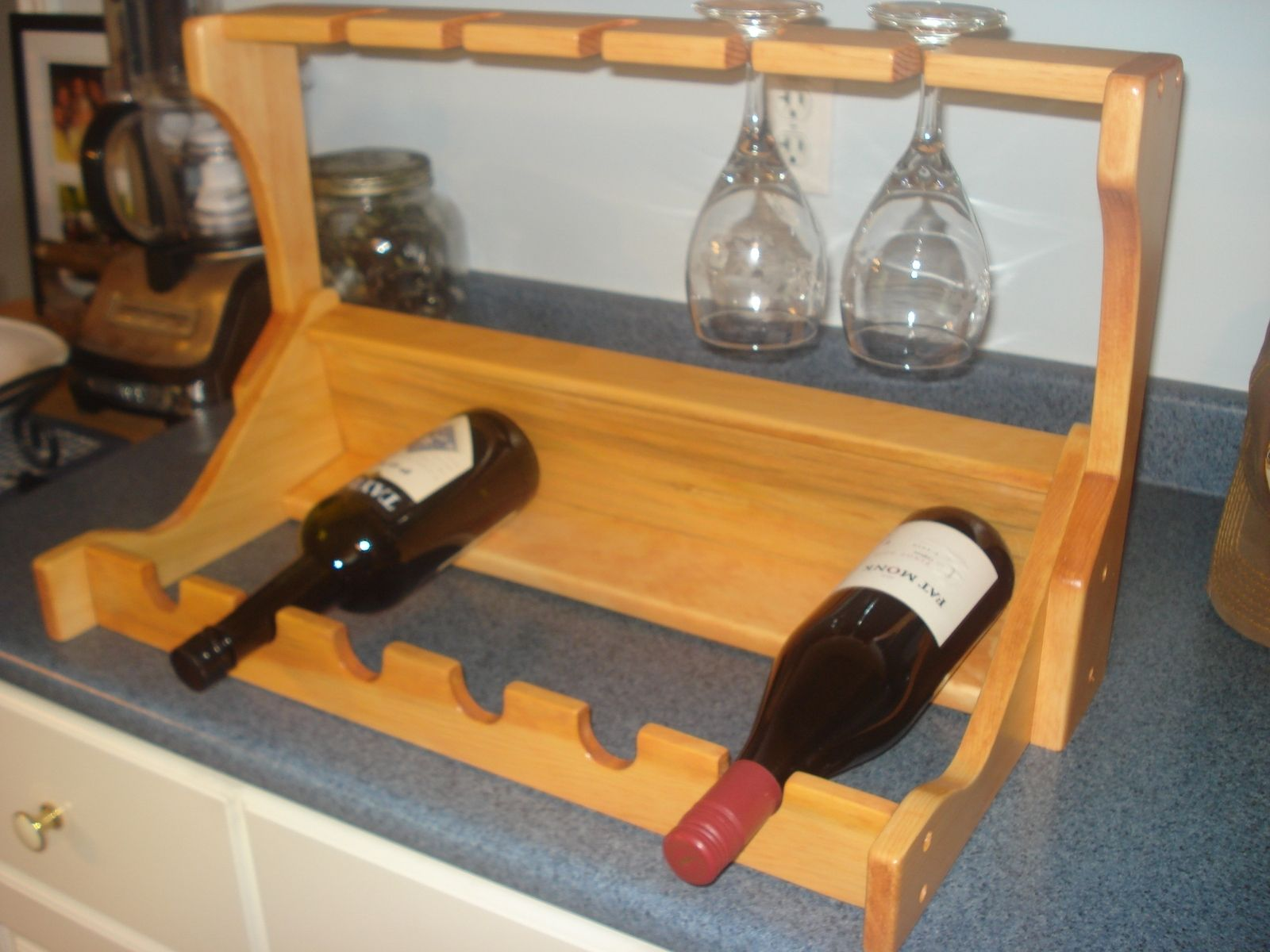 Custom Made Wine Rack By The Rusty Nail Wood Shop