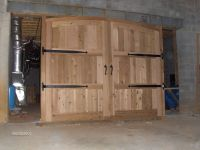 Hand Crafted Cedar Garage Doors by Paradigm Wood Designs ...
