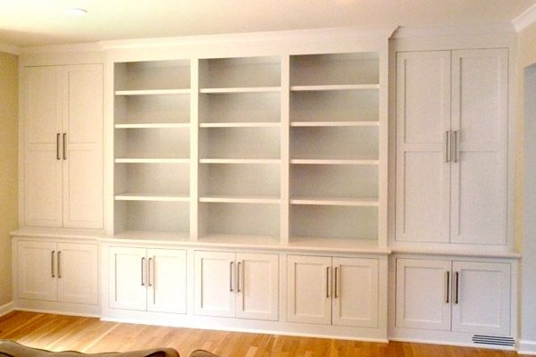 Custom Shaker Contemporary Built In Wall Storage System
