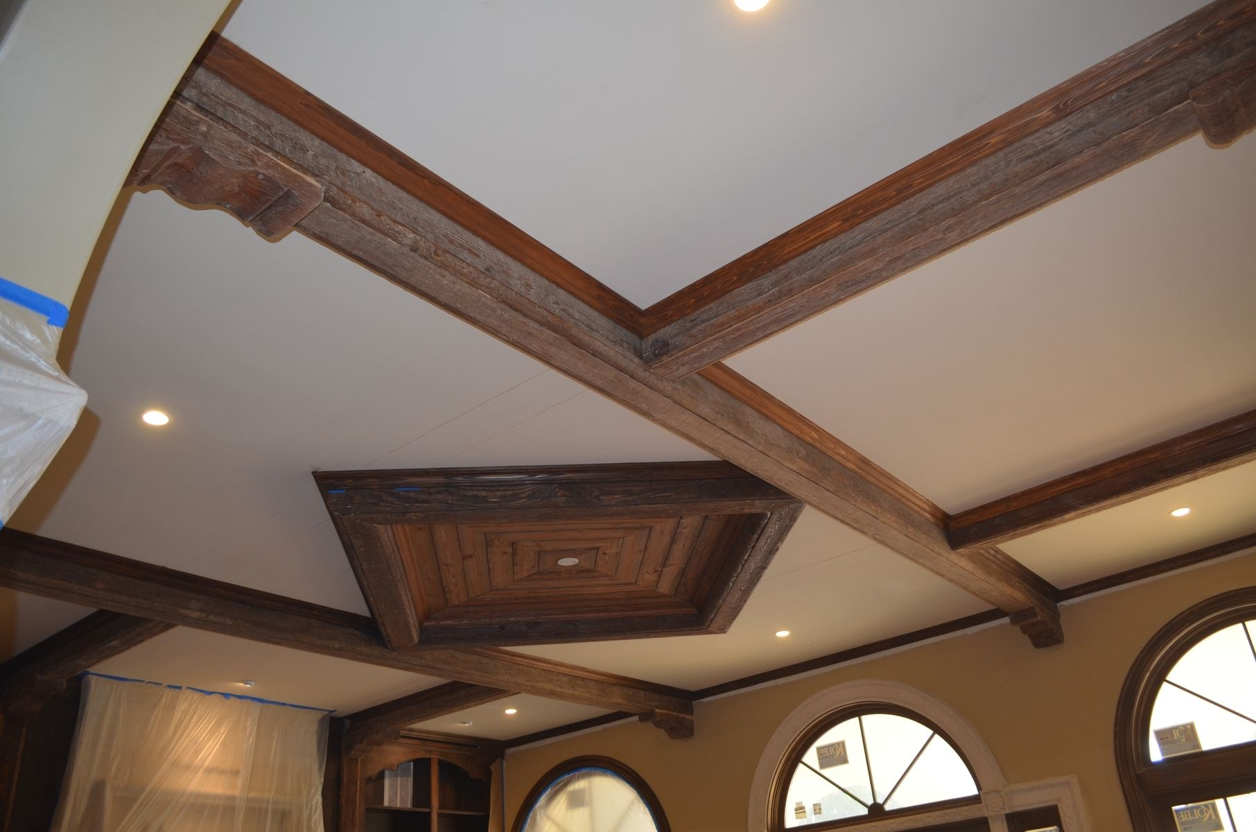 Rustic Ceiling Hand Made Rustic Beams And Ceiling Diamonds By Weck Design