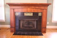 Hand Made Custom Craftsman Style Fireplace Mantle And ...