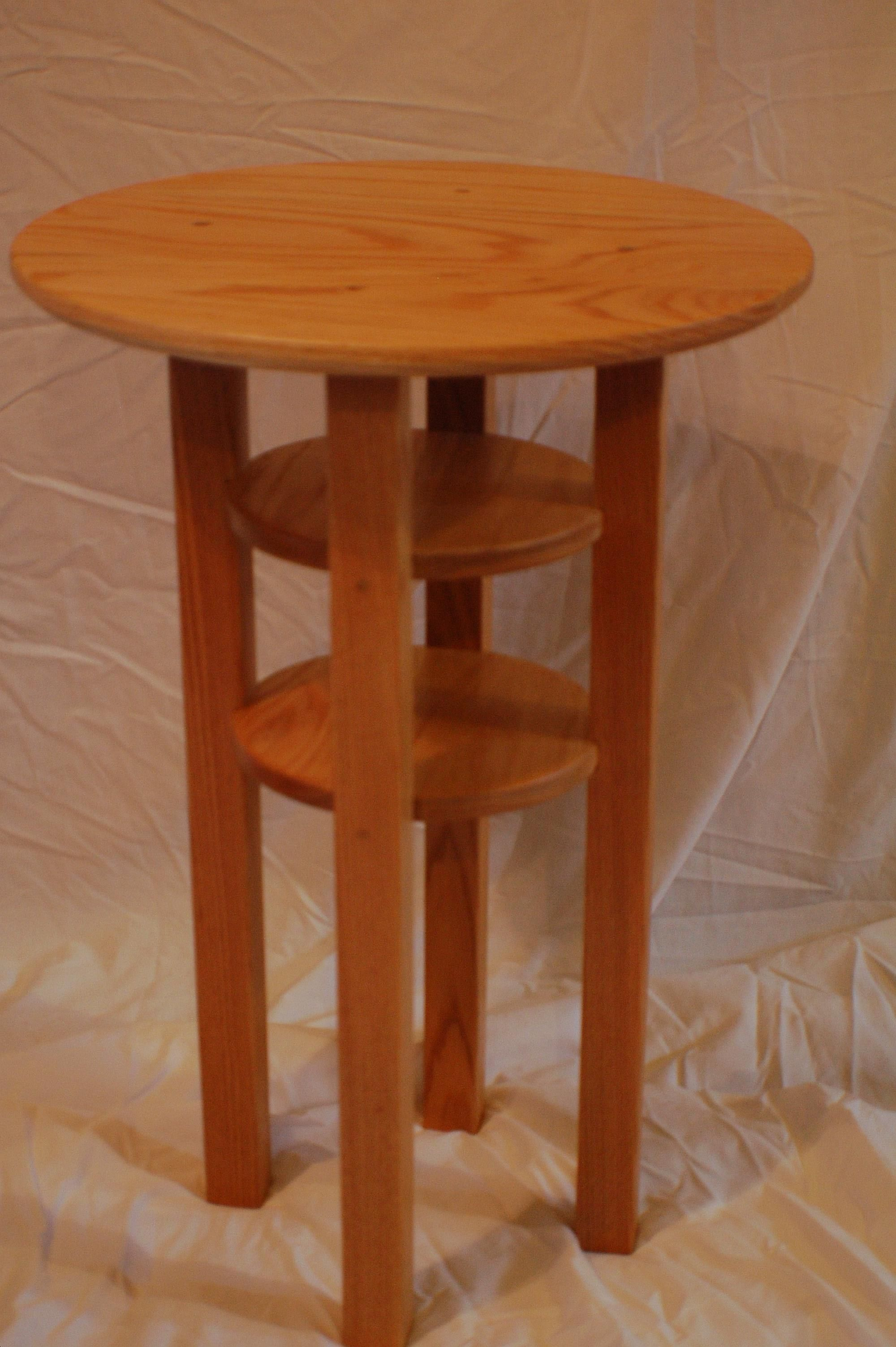 Round Oak End Tables Buy A Handmade Round Oak Side Table Made To Order From