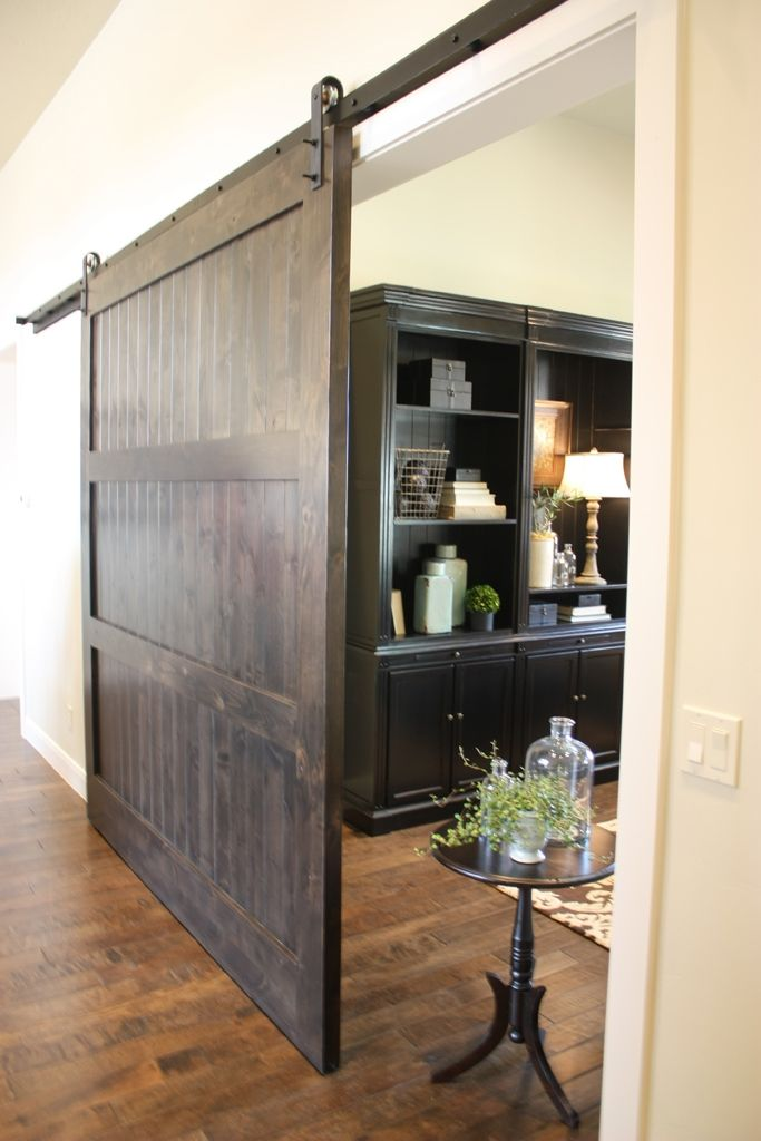 Modern Door Stops Custom Knotty Alder Barn Door By Riverwoods Mill