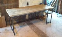 Hand Crafted Industrial Style Desk by IndustrialCustoms ...