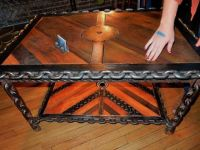 Buy a Hand Made Industrial/Steampunk Coffee Table, made to