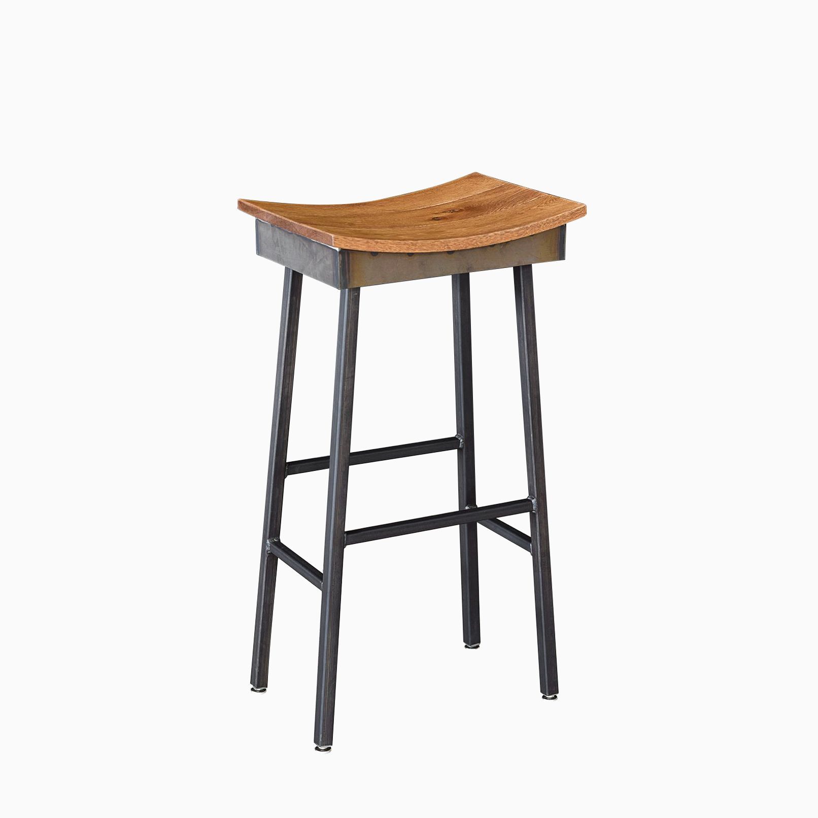 Industrial Design Bar Stools Buy A Custom Made Industrial Modern Saddle Stool Made To