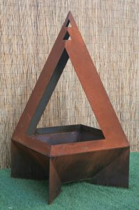 Buy a Handmade Open Metal Chiminea - Modern Chiminea ...