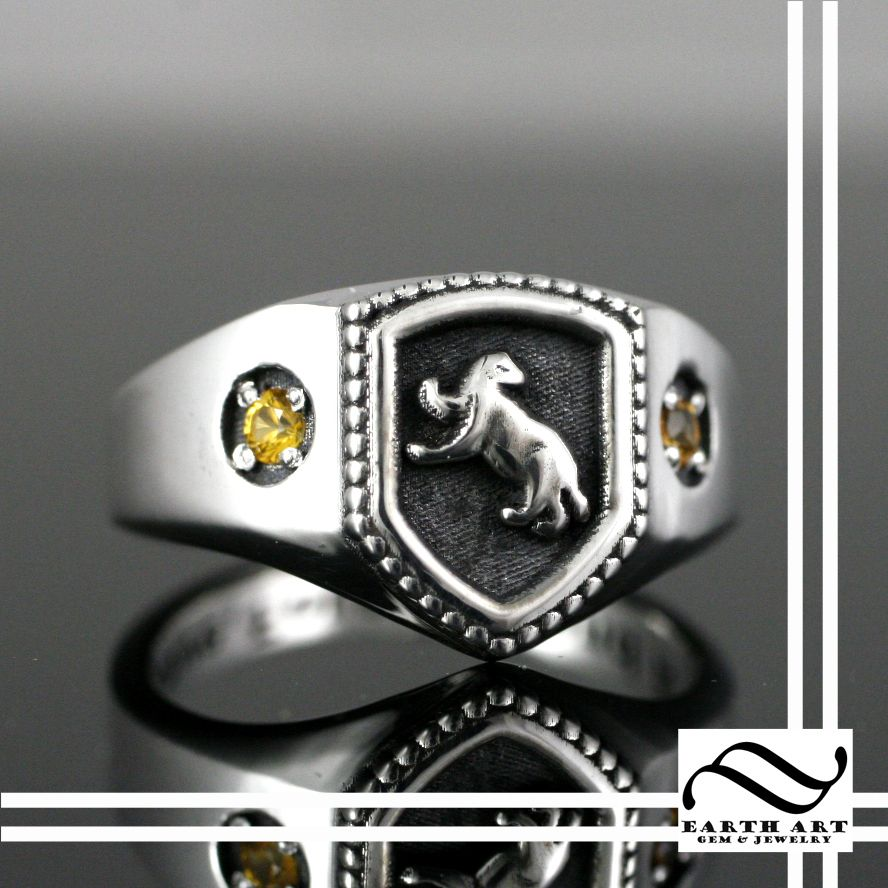 nerdy mens wedding rings harry potter wedding bands Nerdy mens wedding rings Hufflepuff House Ring Harry Potter Inspired Download