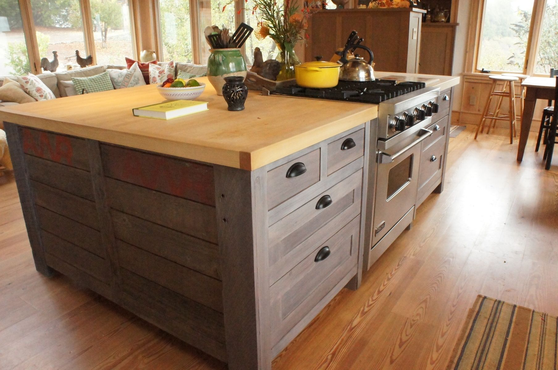 Kitchen Cabinets Made Into Island Hand Crafted Rustic Kitchen Island By Atlas Stringed