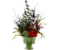 Custom Spring Decor Silk Flower Arrangement, Home ...