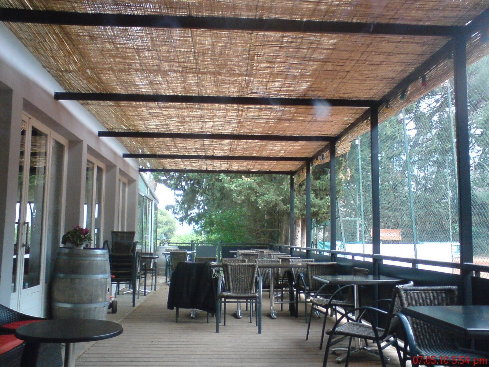 Toile De Camouflage Pour Pergola Handmade Set Club, New Pergola And Wood Deck By Steel