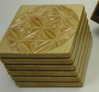 Custom Made Hand Carved Wooden Drink Coasters And Display ...
