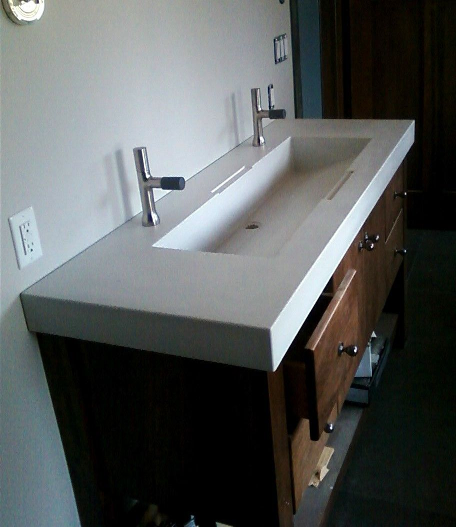 Hand Crafted Custom Concrete Sinks By Masonry And Metal L